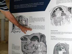 lezione di inglese alle catacombe