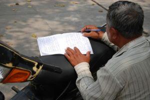 scrivere per strada